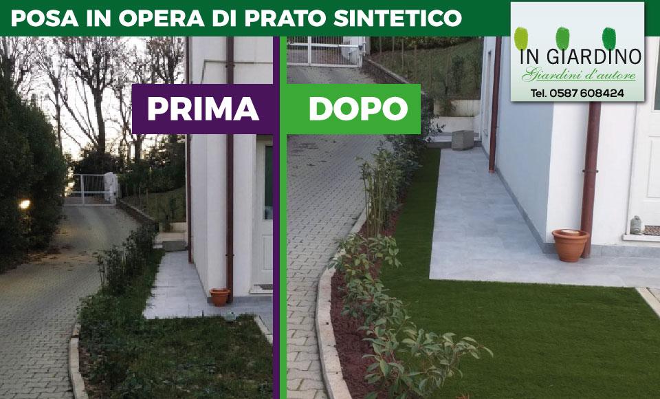 Posa Prato Sintetico O Artificiale Per Giardino Su Pisa Livorno